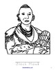Famous Native Americans Coloring Book with Print Copywork