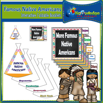 Famous Native Americans - Interactive Foldable Booklet - EBOOK