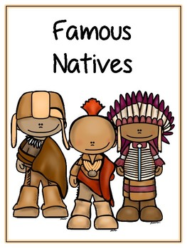 Famous Natives Writing Word Thematic Folder - Picture Word Wall