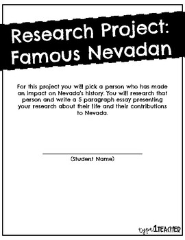 Famous Nevadan Research Project