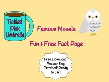 Famous Novels Fun Fact Quiz