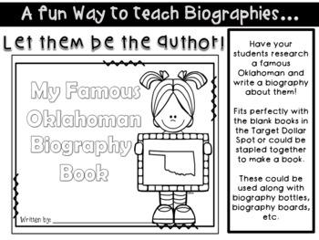 Famous Oklahoman Biography Book