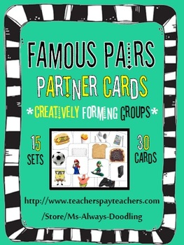 Famous Pairs Partner Cards