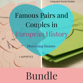 Famous Pairs and Couples in European History Matching Games