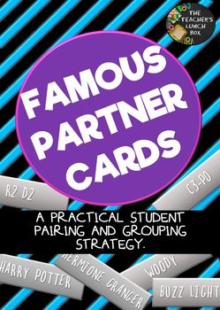 Famous Partner Cards Pairing and Grouping Stategy