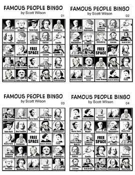 Famous People Bingo