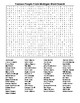 Famous People From Michigan Crossword&Word Search with KEYS
