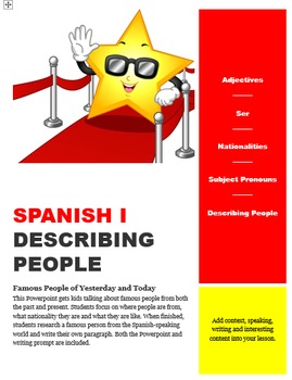 Famous People Powerpoint (Spanish - Describing People)