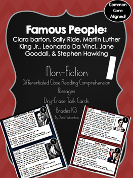 Famous People Nonfiction Reading Passages