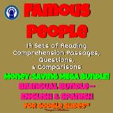 Famous People Reading Passages, Questions, & More Mega Bil
