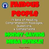 Famous People Reading Passages, Questions, & More Mega Bundle