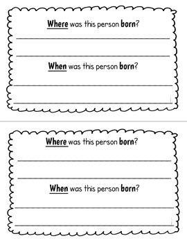 Famous People Research Report Mini Book