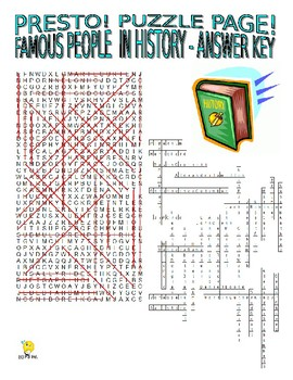 Famous People Through History Puzzle Page (Wordsearch and Criss-Cross)