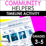 Community Helpers Timeline Activity | Distance Learning an