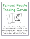 Famous People Trading Card Project