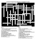 Famous People from Alabama Crossword & Word Search with KEYS