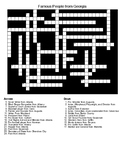 Famous People from Georgia Crossword and Word Search