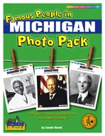 Famous People from Michigan Photo Pack