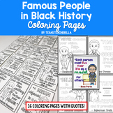Black History Coloring Pages with Quotes Activity