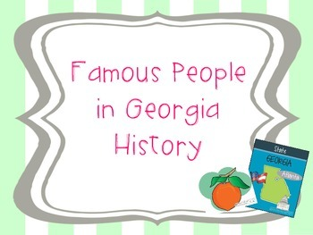 Famous People in Georgia History