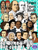 Realistic Image of Famous People in US History Clipart Bundle