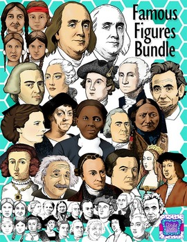 Realistic Famous People in US History Clipart Bundle