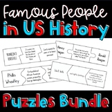 Important People of US History MEGA Bundle: Puzzle Activities