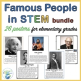 Famous People in the Area of STEM Posters for Elementary Grades BUNDLE