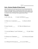 Famous People of New France Quiz