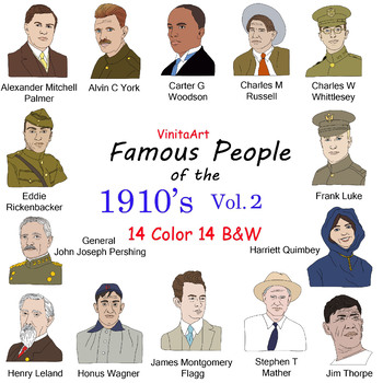 Famous People of the 1910's Vol 2