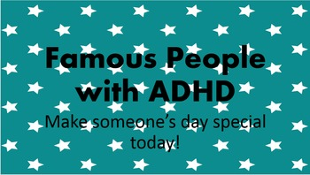Famous People with ADD/ADHD Poster