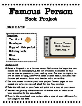 Famous Person Book Project