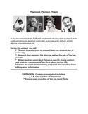 Famous Person Quatrain Poem Involving Research and Bibliography