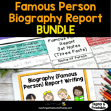 Famous Person Biography Report: Tiered Report Writing Templates