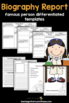 Biography - Famous Person Report (Digital and PDF) Distance Learning