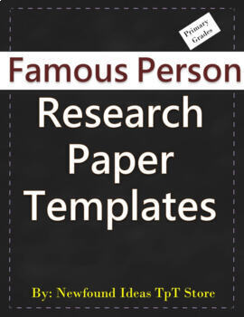 Famous Person Research Template