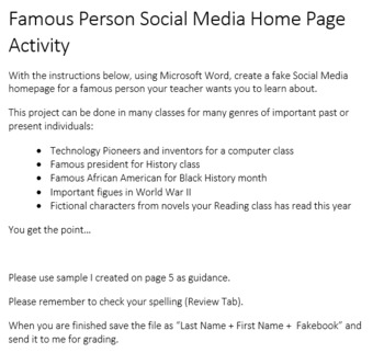 Famous Person Social Media Page Activity