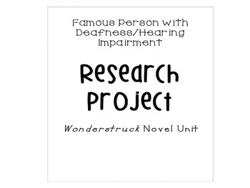 Famous Person with Hearing Impairment Project WONDERSTRUCK