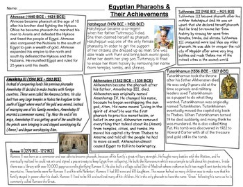 Famous pharaohs of ancient egypt timeline and reading by ryan woosley famous pharaohs of ancient egypt timeline and reading altavistaventures Images
