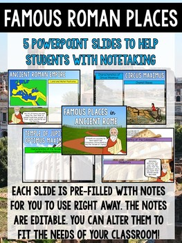 Famous Places in Ancient Rome Standing Foldable