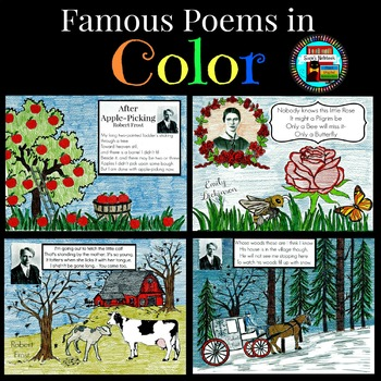 Poetry in Color, Emily Dickinson, Robert Frost, Edna St Vincent Millay
