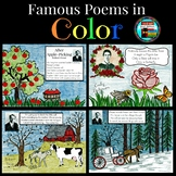 Poetry in Color, Emily Dickinson, Robert Frost, Edna St Vi