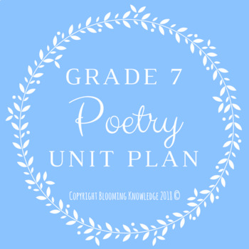 Grade 7 Poetry Unit Plan