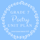 Grade 7 Poetry Unit Plan