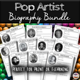 Famous Pop Artists Online Scavenger Hunt Worksheets