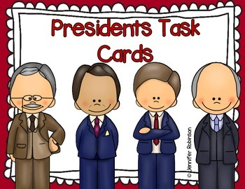 Famous Presidents Biography Task Cards {President's Day}