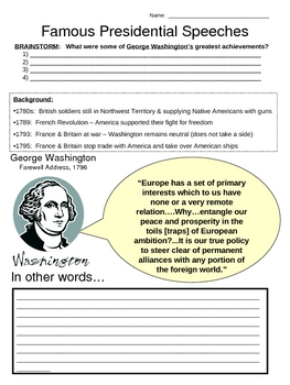 Famous Presidential Speeches - Washington & Jefferson