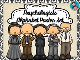 Famous Psychologists Alphabet Poster Set