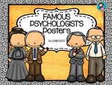 Famous Psychologists Poster set 1