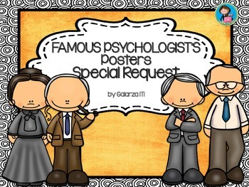 Famous Psychologists Poster Special Request set